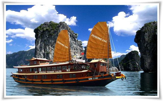 Halong Dugong sail cruise 2 days 1 night