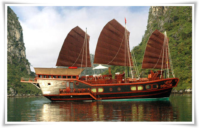 Halong Red Dragon junk cruise 2 days 1 night